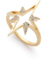 Elizabeth And James Astral Ring - Gold - Lyst