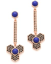 Giles & Brother - Hex Dangle Earrings - Lyst