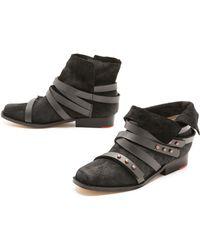 Joe's Jeans - Landon Wrap Strap Booties - Lyst