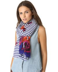 Juicy Couture - Romantic Rose Scarf - Multi - Lyst
