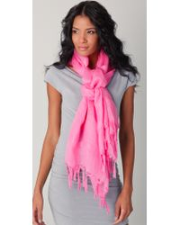 Love Quotes - Knotted Tassel Linen Scarf - Lyst