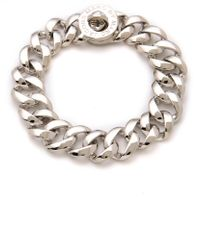 Marc By Marc Jacobs Turnlock Small Katie Bracelet - Argento - Lyst