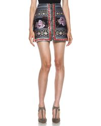 Matthew Williamson Floral Folk Weave Embroidered Panelled Skirt - Lyst