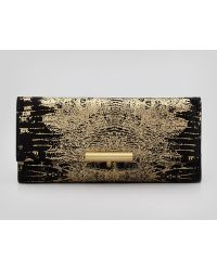 Reed Krakoff - Printed Suede Tpin Clutch Bag Blackgold - Lyst