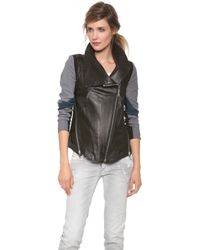 Tess Giberson - Pieced Leather Jacket - Lyst