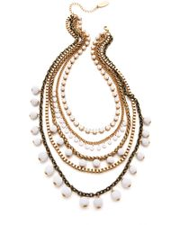 Adia Kibur Gold Layered Necklace - Lyst
