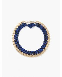 Aurelie Bidermann Navy Black Do Brasil Necklace - Lyst