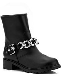 Giuseppe Zanotti In Chains Leather Boot - Lyst