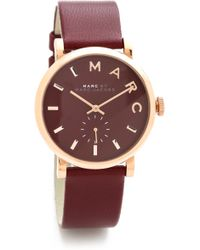 Marc By Marc Jacobs Leather Baker Watch - Lyst