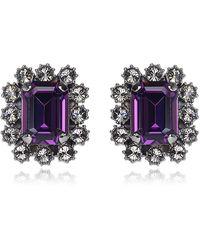 Mawi - Hematite Crystal Gem Earrings - Lyst