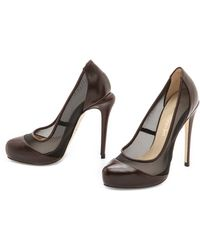Max Kibardin - Leather Pumps with Net - Lyst