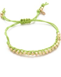Shashi Single Petit Golden Nugget Adjustable Bracelet - Lyst