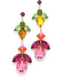 Tom Binns - Crystal Drop Earrings - Lyst