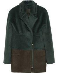Alexander Wang Brushed-alpaca and Wool-blend Jacket - Lyst
