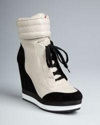 Boutique 9 - High Top Wedge Trainer Booties Whispers - Lyst
