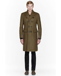 Burberry Prorsum - Olive Green Wool Look 19 Peacoat - Lyst