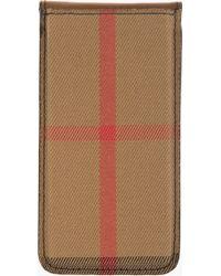 Burberry Prorsum - Tan House Check Iphone 5 Case - Lyst 5bea1a01e361a