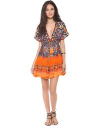 Camilla African Queen Short Cover Up Dress - Lyst