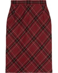 Clements Ribeiro | Candy Plaid Woolblend Pencil Skirt | Lyst