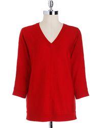 DKNY Wool Dolmansleeved Sweater - Lyst