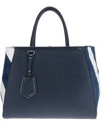 Fendi Calf Leather and Pony Fur 2jours Tote Bag - Lyst