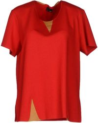 Fendi Red Blouse - Lyst