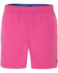 Gant Plain Boxer Swim Shorts - Lyst