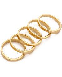 Gorjana - Camila Beveled Ring Set - Lyst
