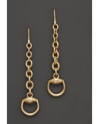 Gucci 18k Yellow Gold Horsebit Earrings - Lyst
