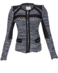 IRO Izzy Leather Trim Tweed Jacket - Lyst