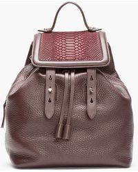 Mackage - Burgundy Leather Tanner Backpack - Lyst