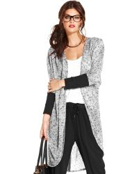 Material Girl - Long Sleeve Openfront Duster - Lyst