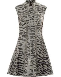 McQ by Alexander McQueen Prince Of Wales and Tiger Print Dress - Lyst