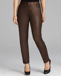 Nydj Sheri Copper Coated Skinny Jeans - Lyst