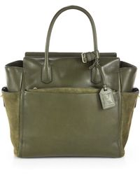 Reed Krakoff Atlantique Soft Leather Suede Satchel - Lyst