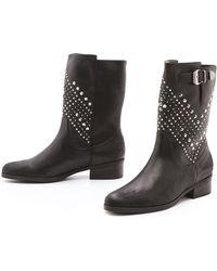 Schutz Aliria Studded Boots - Lyst