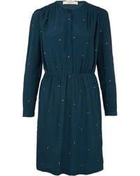 Sessun - Teal Mayfair Square Spot Print Dress - Lyst
