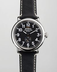 Shinola 47mm Runwell Mens Watch Black - Lyst