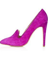 Topshop Gosford Slipper Vamp Courts pink - Lyst