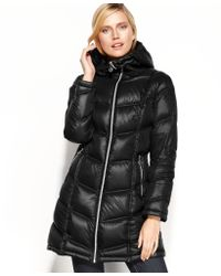 Calvin Klein Packable Hooded Quilted Puffer - Lyst