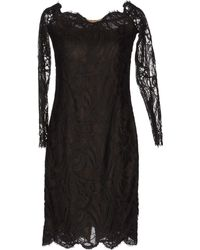 Emilio Pucci Long Sleeve Lace Short Dress - Lyst