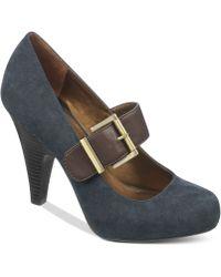 Fergie - Fergalicious Shoes Celeste Mary Jane Platform Court Shoes - Lyst