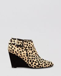 Isaac Mizrahi New York - Wedge Booties Winona Leopard Print - Lyst