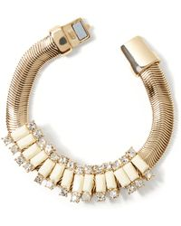 Banana Republic Slider Bracelet Ivory gold - Lyst