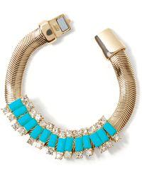 Banana Republic Slider Bracelet Turquoise gold - Lyst