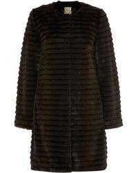 Biba - Deep Cut Fur Coat - Lyst