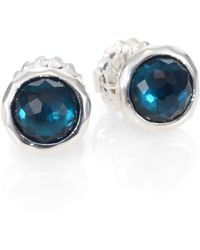 Ippolita Peacock Gemstone Doublet and Sterling Silver Earrings silver - Lyst