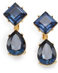 Kenneth Jay Lane Sapphirecolored Faceted Drop Earrings - Lyst
