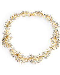 Kenneth Jay Lane Sparkle Leaf Necklace gold - Lyst