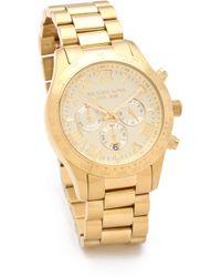 Michael Kors Layton Chronograph Watch - Gold - Lyst
